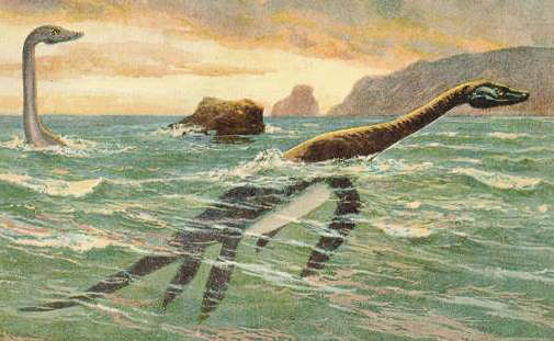 Plesiosaurs, by Heinrich Harder, 1916