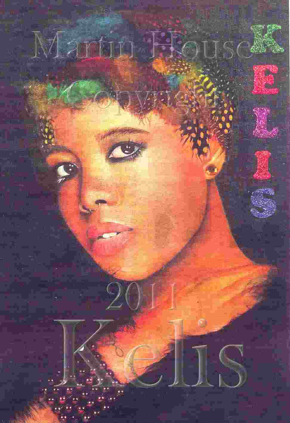Kelis, original oil painting by Martin House