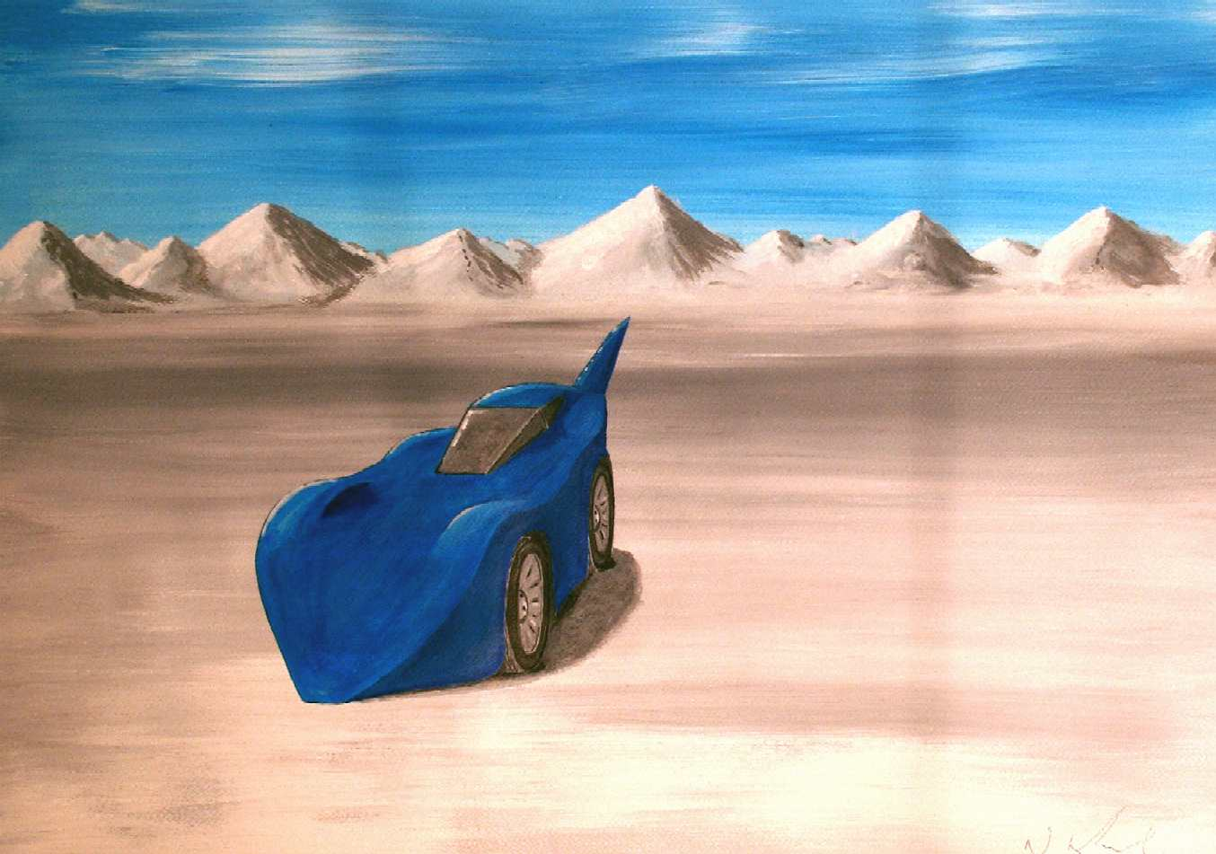 Bonneville Salt Flats, Utah, USA - Blueplanet electric land speed record car
