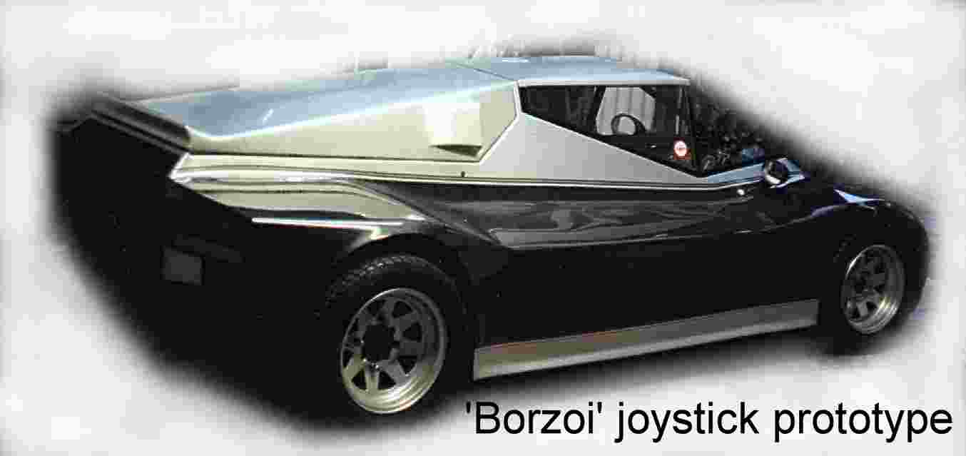 The Borzoi concept car joystick controlled prototype