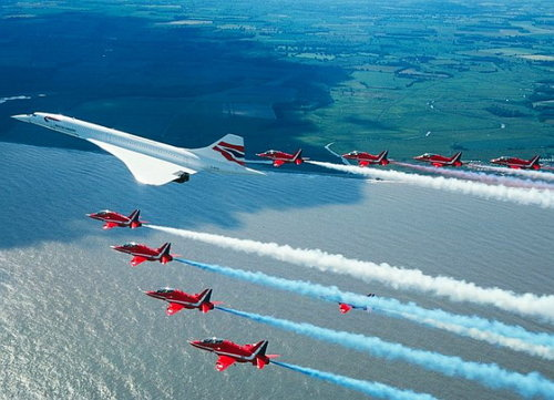 The United States of the Solar System, A.D. 2133 (Book Five) Concorde_last_flight_red_arrows_escort