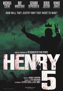 Henry 5, all British film production starring Michael Caine, Richard Attenborough, Ray Winstone, Vinne Jones and Derek Jacobi