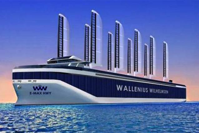 WALLENIUS WILHELMSON SOLAR POWERED CARGO SHIPS BOATS ORCELLE MARCH ...
