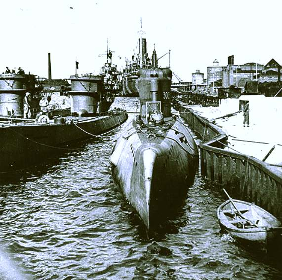 Type XXI 3003 U boat submarine, Germany World War II