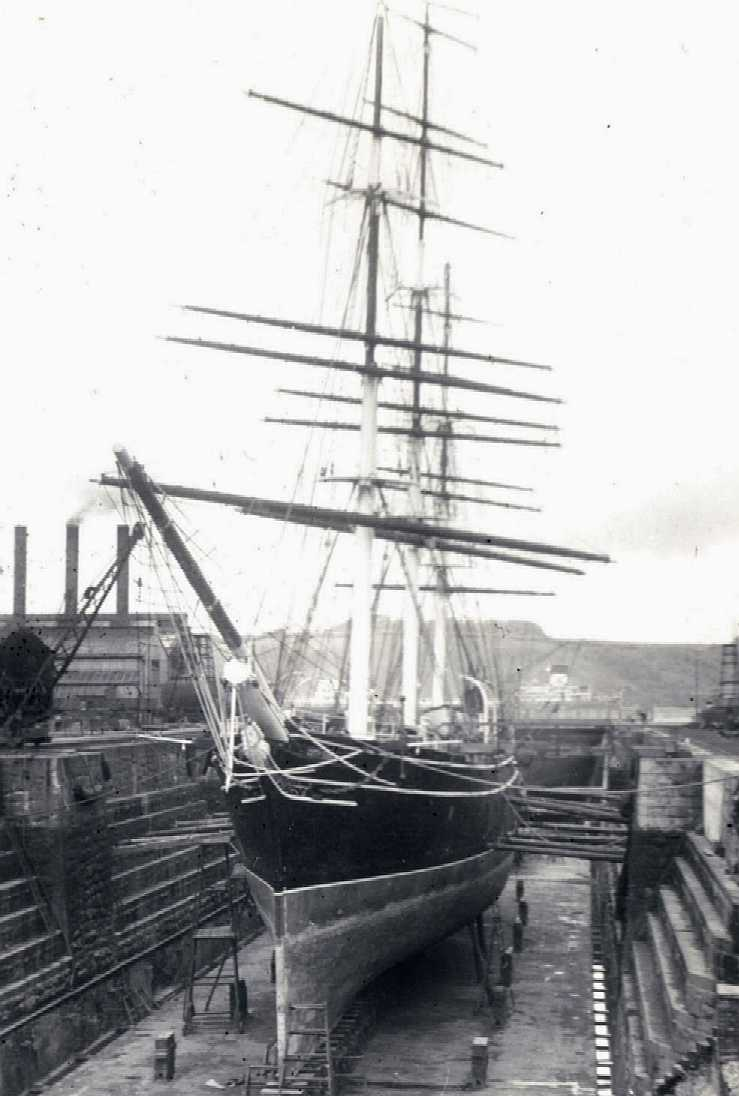 Cutty Sark - refit in dry dock
