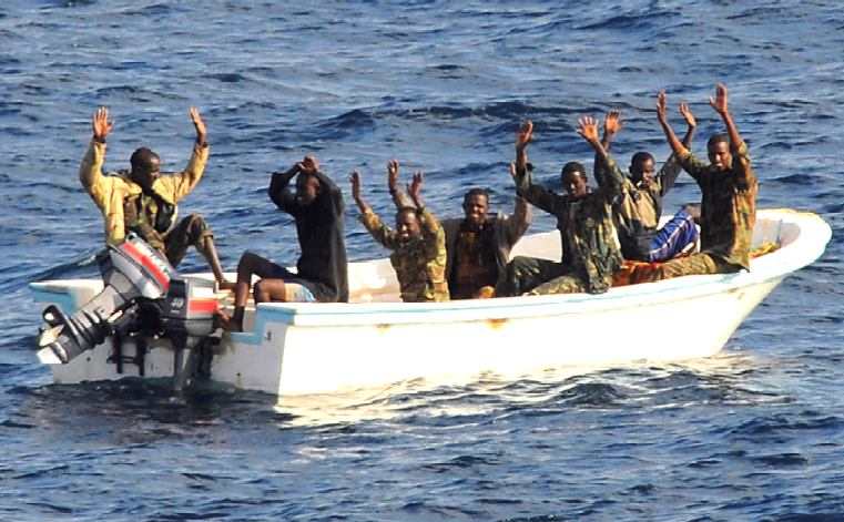 Somali pirates in tender, surrender