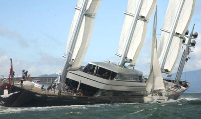 Yacht insurance claim, Maltese Falcon sailing boat accident