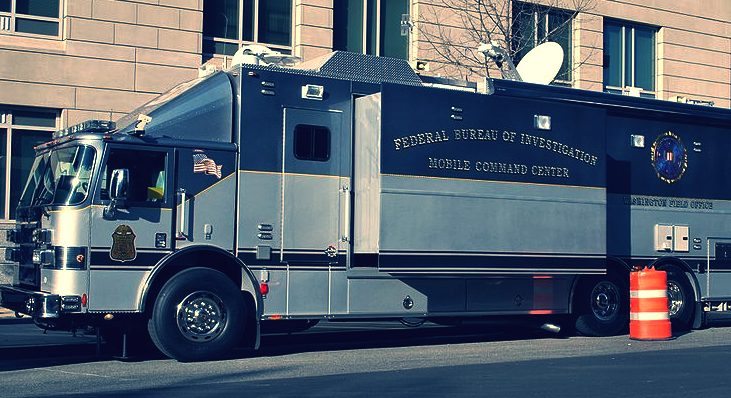 FBI mobile command unit (truck)