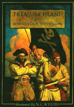 Treasure Island 1911 book cover by Scribner - The Golden Skull inspiration, Robert Louid Stevenson