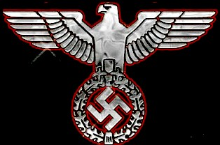 Cyber Wars - Swastika and eagle Nazi emblem