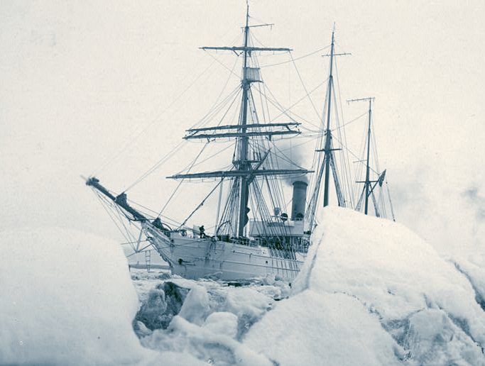 US Enterprise 1838, frigate converted for antarctic exploration