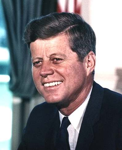 John Fitzgerald Kennedy JFK president of the USA 1961