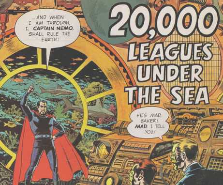Cartoon Captain Nemo 20000 Leagues Under the Sea. Cartoon Captain Nemo