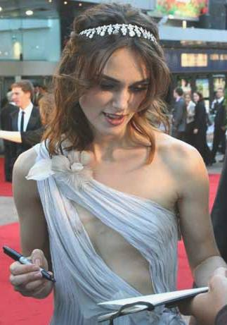 Keira Knightley at the premier of Atonement 2007