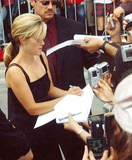 Reese Witherspoon signing autographs at the premiere of Walk the Line Toronto Film Festival in Toronto, Ontario 2005