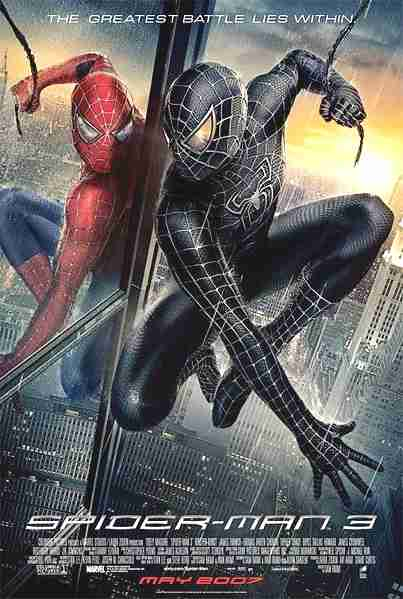 Spider-Man 3 movie poster starring Tobey Maguire