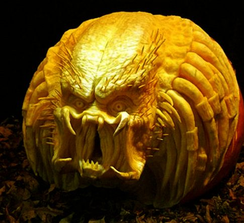 Halloween pumpkin carved by Ray Villafane
