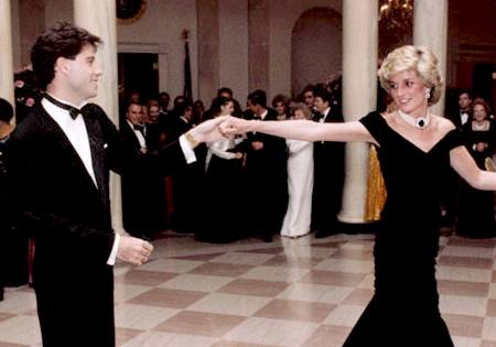 John Travolta with princess diana