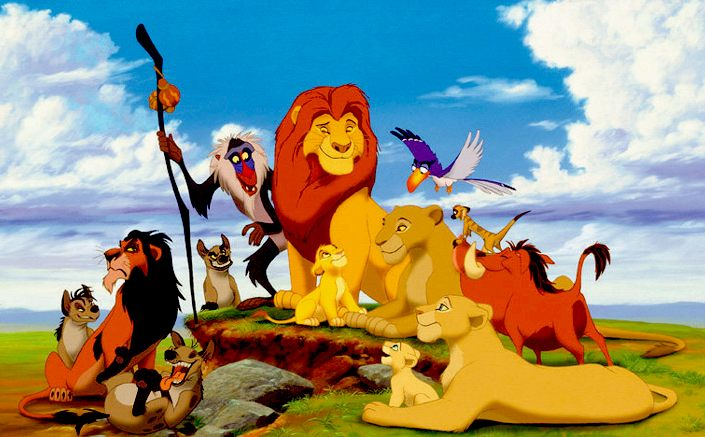 The Lion King - Disney animated movie, cast of characters