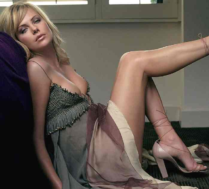 Charlize Theron Sensual in Evening Dress
