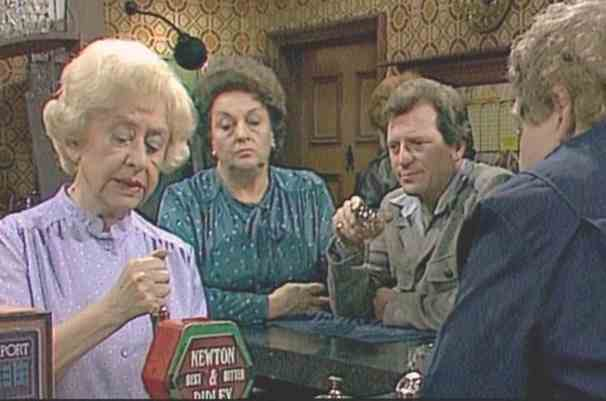 Coronation Street Rovers Return 1970s Annie Walker Fancy buying some of Bettys Hot Pot from Coronation Street?