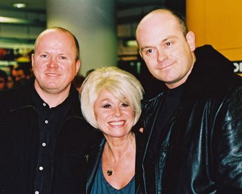 Eastenders Peggy Mitchell, Phill and Grant