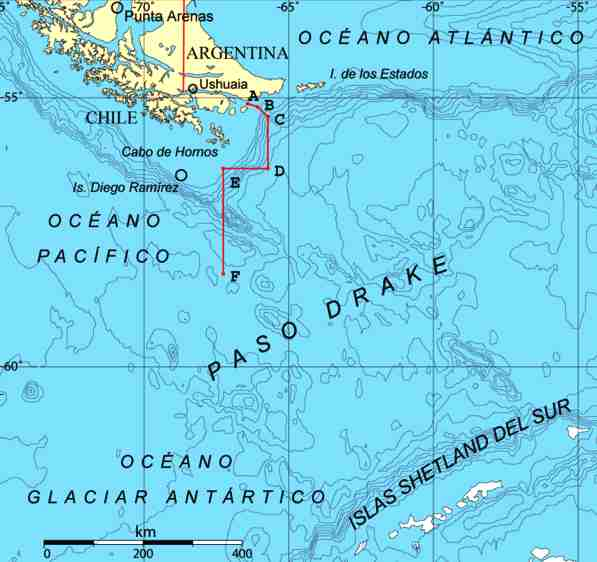 Drakes's Passage, Cape Horn, Chile, Argentina - Sir Francis