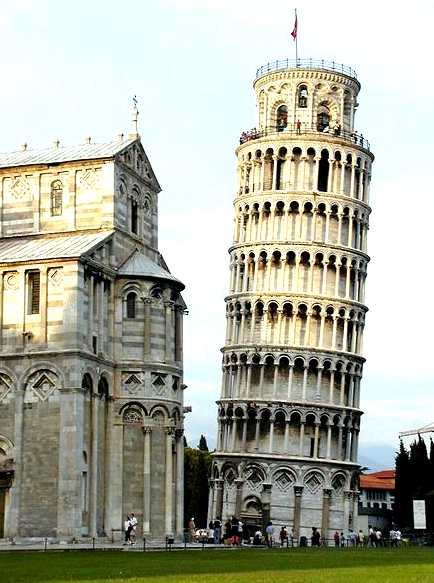 The Leaning Tower of Pisa,