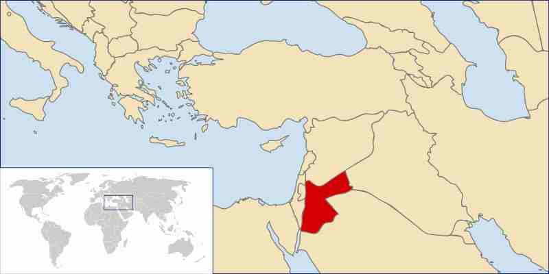 World Map Jordan