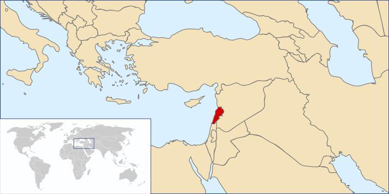 Maps: World Map Lebanon