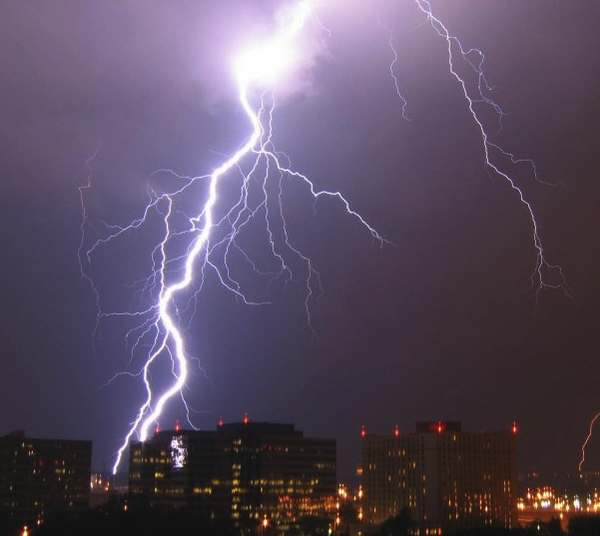 Lightning is a highly visible form of energy transfer