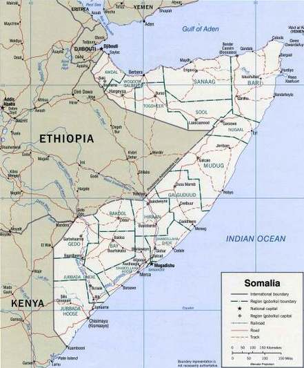 map of somalia in africa. Somalia hord of Africa map