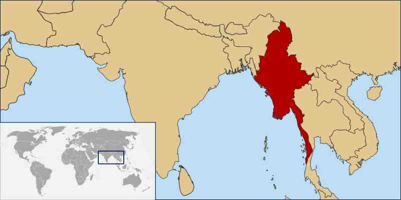 Where Is Burma Located On A Map