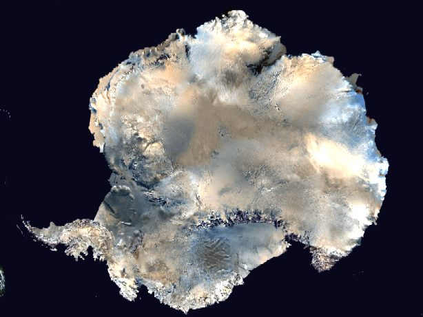 Satelite image of the South Pole, Antarctica