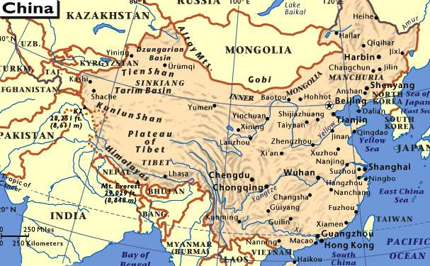 geography people s republic of china and Genetic relationship of populations in china  cavalli-sforza l l, menozzi p,  piazza a the history and geography of  brenner s, hanihara k, editors.