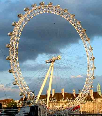 The London Eye uses two types of cable,