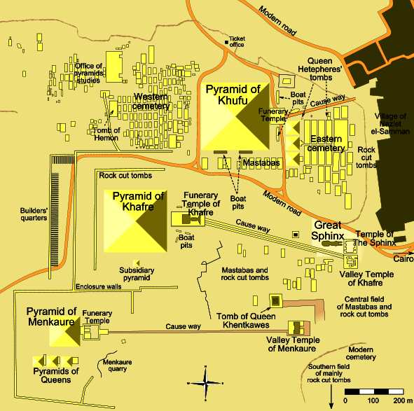 PYRAMIDS OF ANCIENT EGYPT - Map of egypt pyramids and sphinx