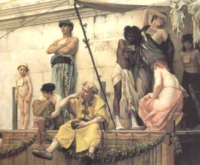 Slave Market painting by Gustave Boulanger