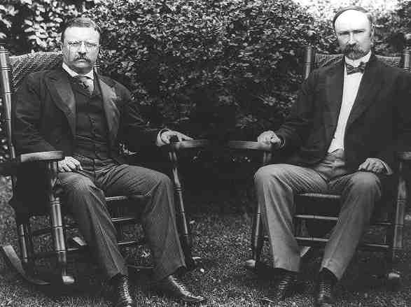 Theodore Roosevelt and his Vice President, Charles W. Fairbanks