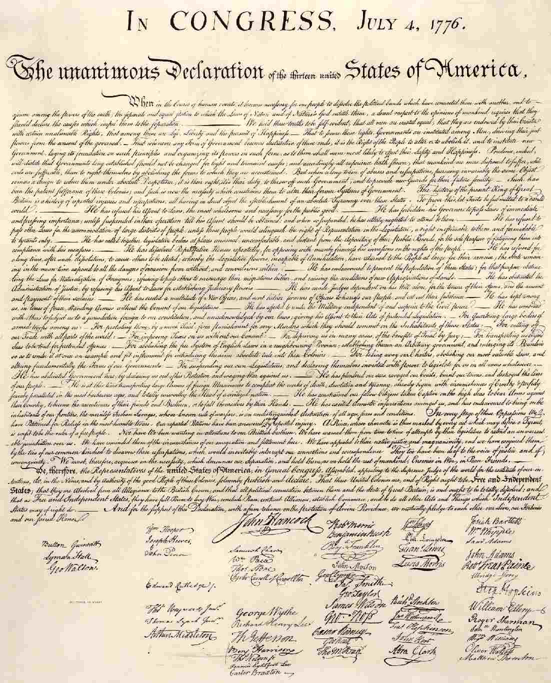The Declaration of Indedpendence