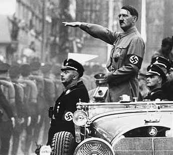 Adolf Hitler and chum Heinrich Himmler Nazi rally