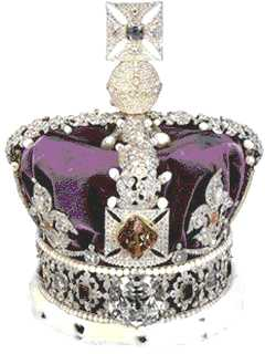 British Imperial Crown (Crown Jewels) diamond encrusted