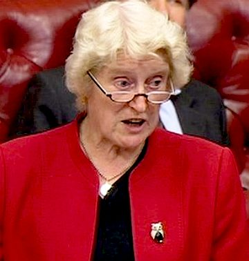Dame Butler Sloss speaking in the House of Lords