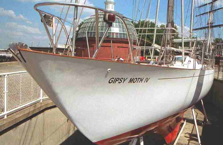 The Gipsy Moth IV at Greewich, London