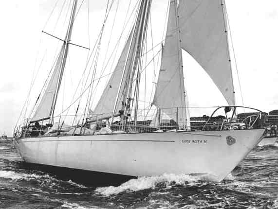 The Gipsy Moth IV at sea