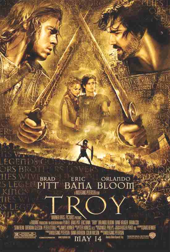 Troy - the movie starring Brad Pitt, Eric Bana, Orlando Bloom and Diane ...