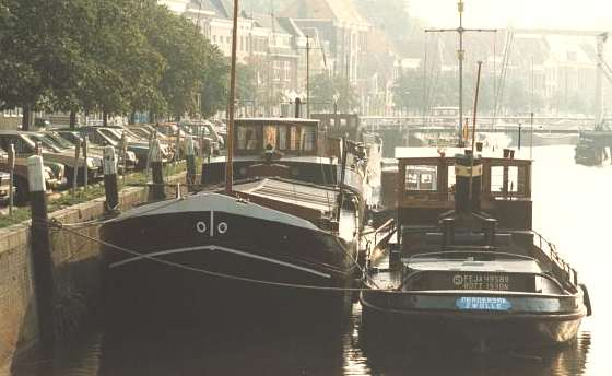 Barges moored Zwolle Holland