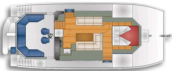 DSe Island Pilot catamaran - Galley, Salon and Master cabin