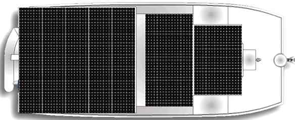 DSe Island Pilot catamaran solar panels layout