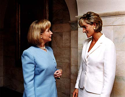 Diana, Princess of Wales and then First Lady Hillary Clinton USA